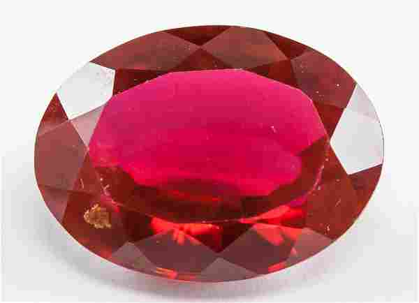 25.85ct Oval Cut Blood Red Natural Ruby CGL