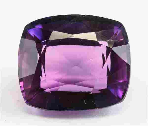 13.45ct Cushion Cut Purple Natural Musgravite GGL