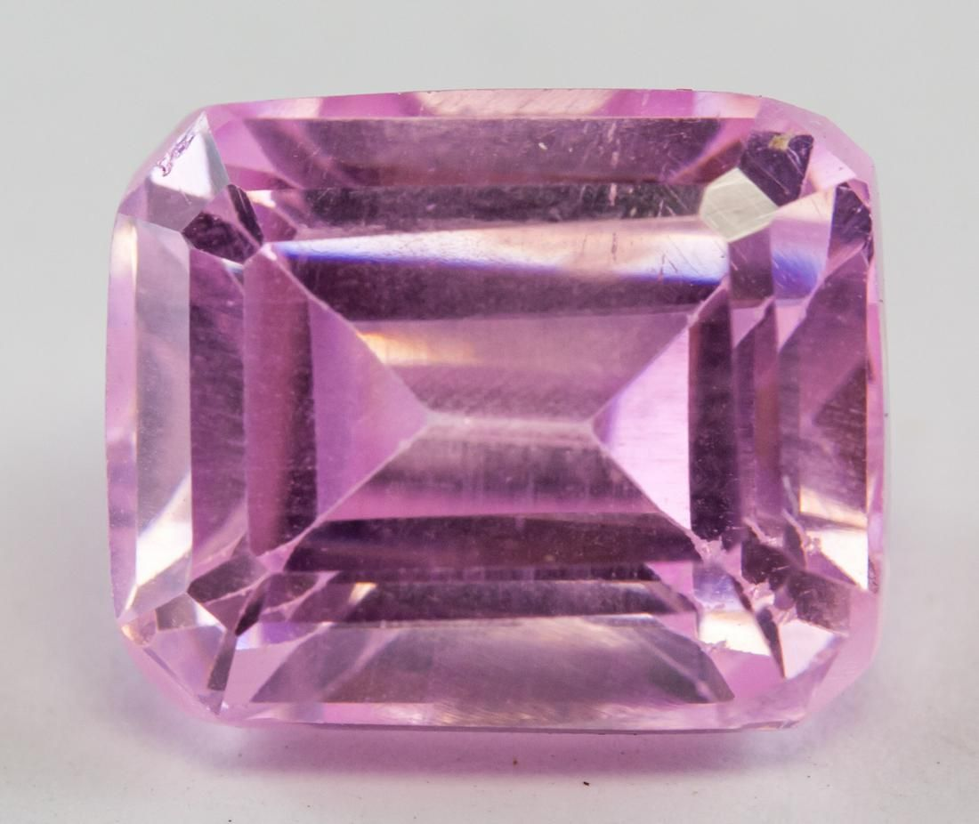8.70ct Emerald Cut Pink Natural Spinel GGL
