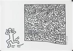 Keith Haring American Pop Mixed Media on Paper '82