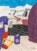 Stuart Davis American Abstract Acrylic on Canvas