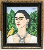 Frida Kahlo Mexican Acrylic 1945 Julien Levy