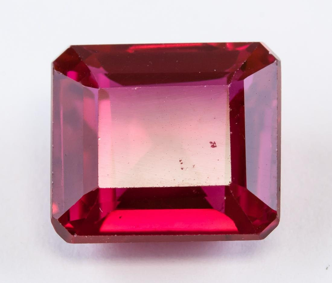 11.85ct Emerald Cut Pinkish Natural Red Ruby AGSL