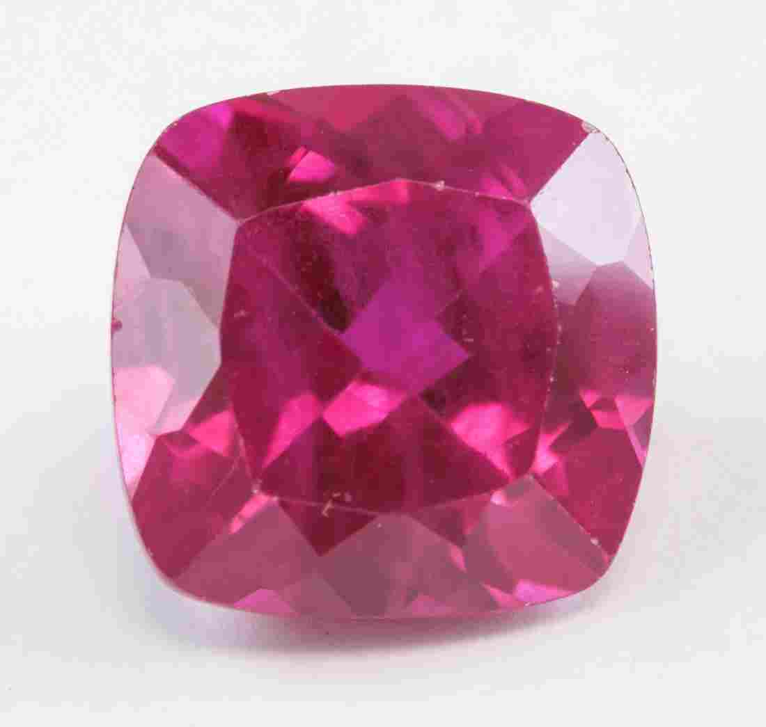 6.70ct Cushion Cut Pinkish Red Natural Ruby AGSL
