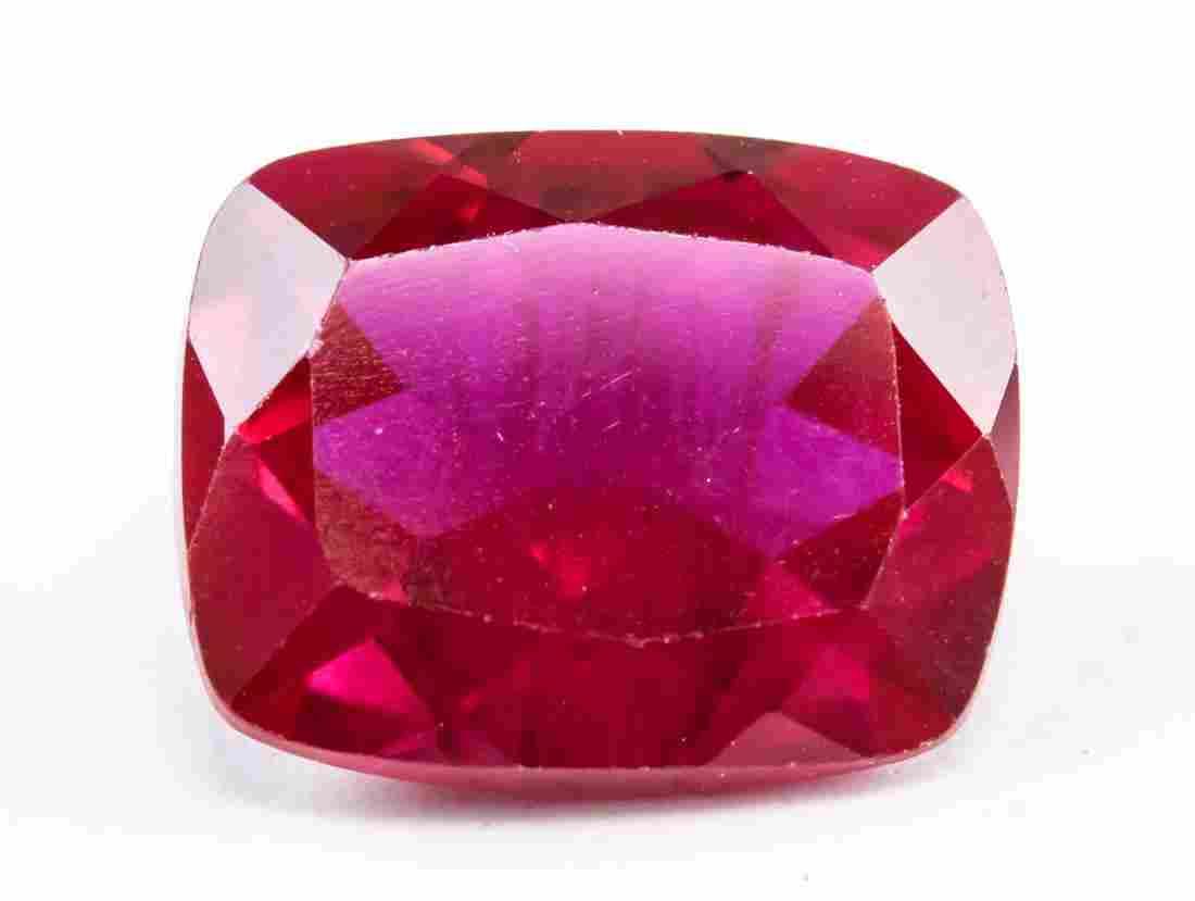 9.60ct Cushion Cut Pinkish Red Natural Ruby AGSL