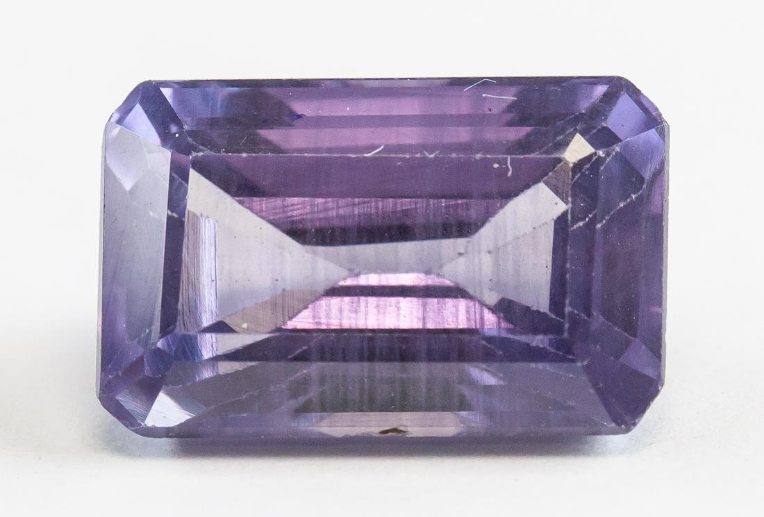 11.40ct Emerald Cut Purple Natural Sapphire GGL