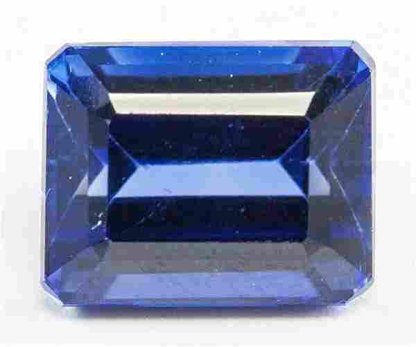13.60ct Emerald Cut Blue Natural Sapphire GGL