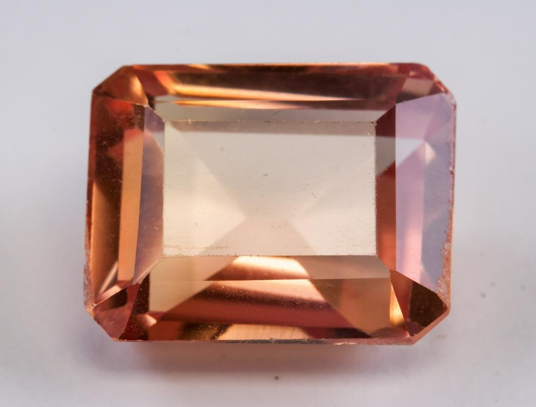 7.25ct Emerald Yellow Pink Natural Sapphire ASGL