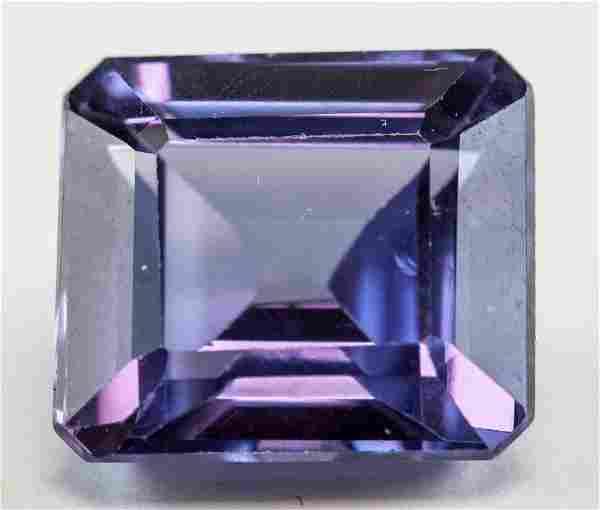 8.70ct Emerald Cut Purple Natural Sapphire GGL