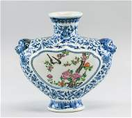 Chinese Blue and White Famille Rose Vase Qianlong