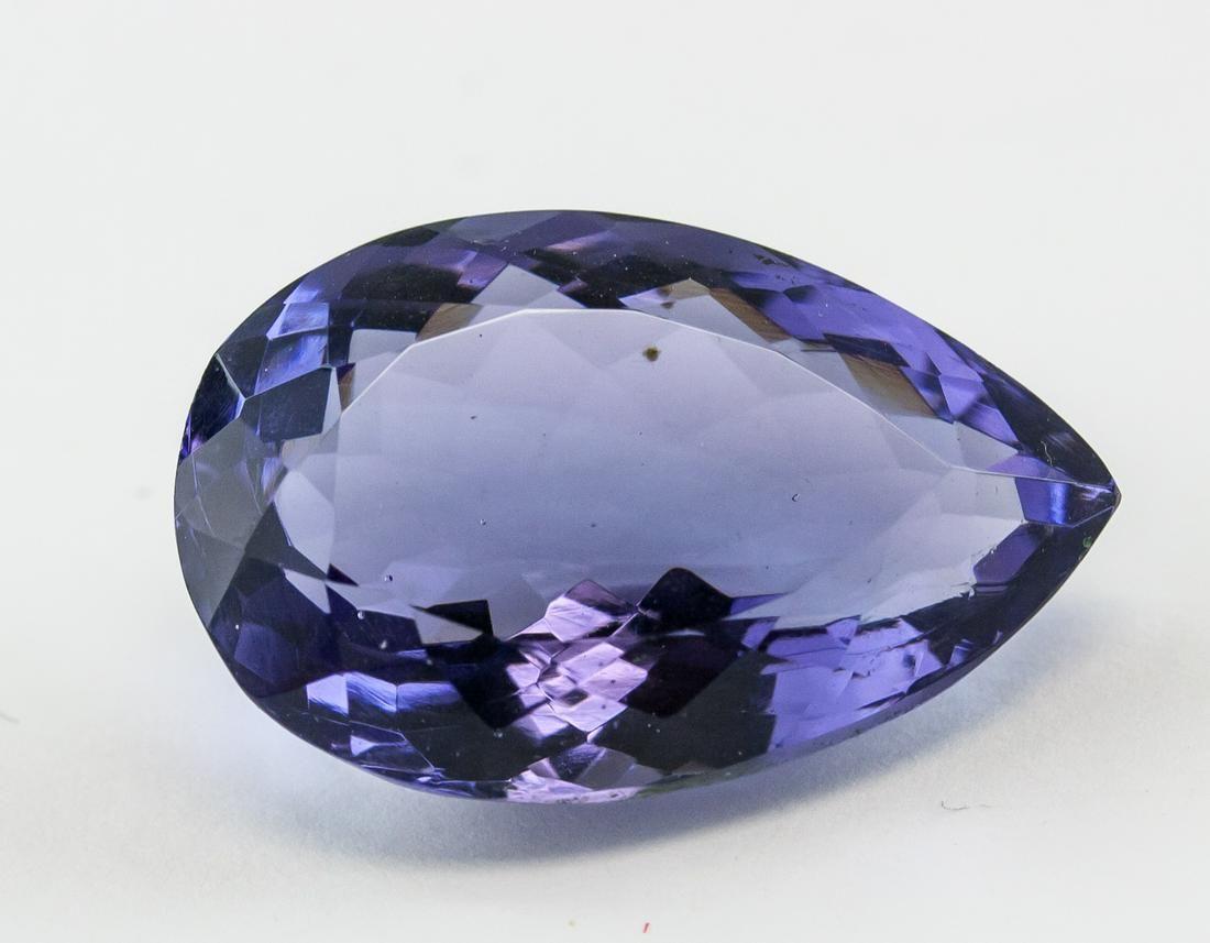 28.90ct Pear Cut Purple Amethyst Gem GGL