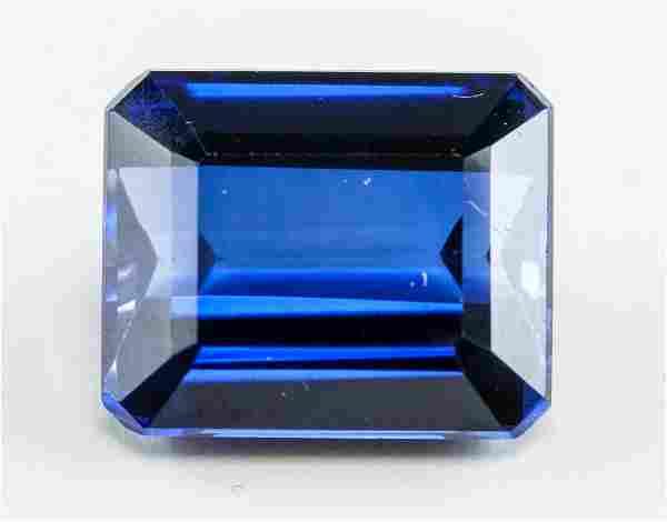 10.60ct Emerald Cut Blue Natural Sapphire GGL