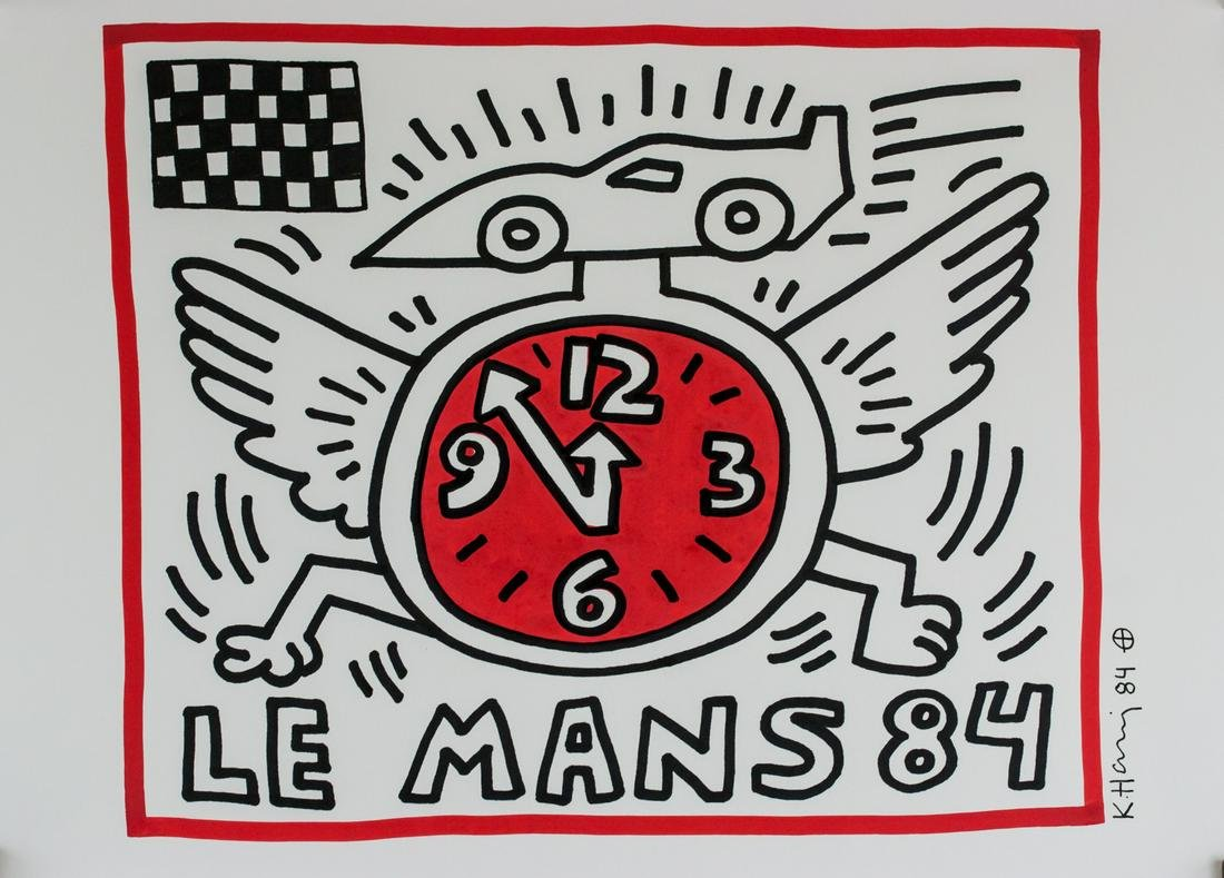 Keith Haring American Pop Maker/Paper LE MANS 84
