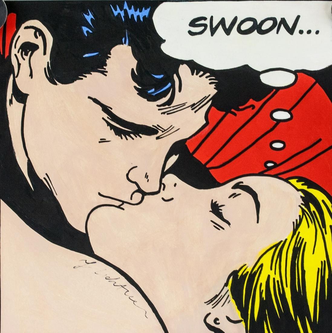 Roy Lichtenstein American Pop Gouache RL2119