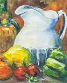 Paul Cezanne French Modernist Oil on Board