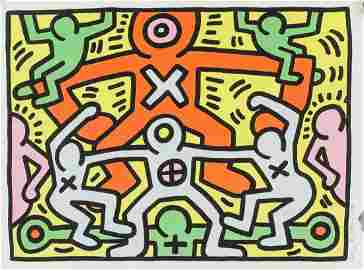Keith Haring American Pop Signed Litho EA 1/XX