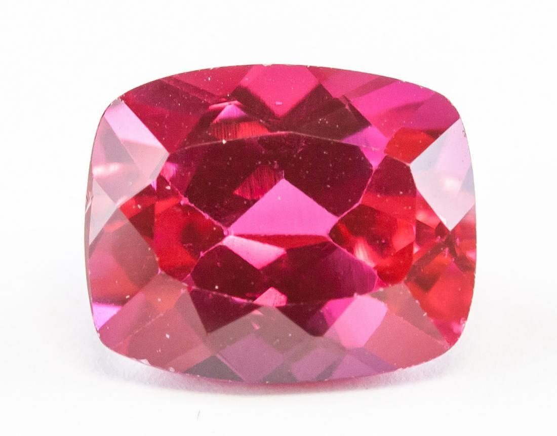 9.40ct Cushion Cut Natural Pink Ruby GGL COA