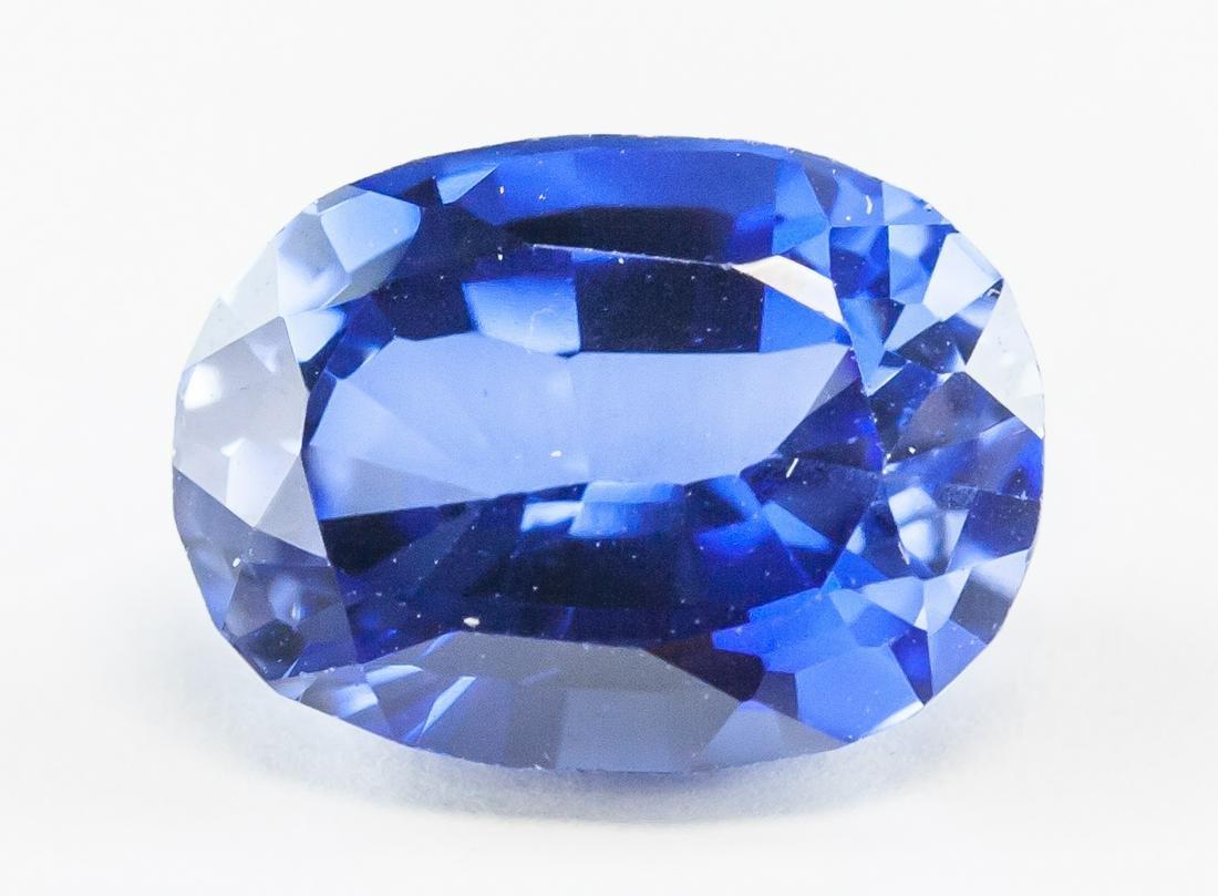 8.40ct Oval Cut Natural Kashmiri Blue Sapphire GGL
