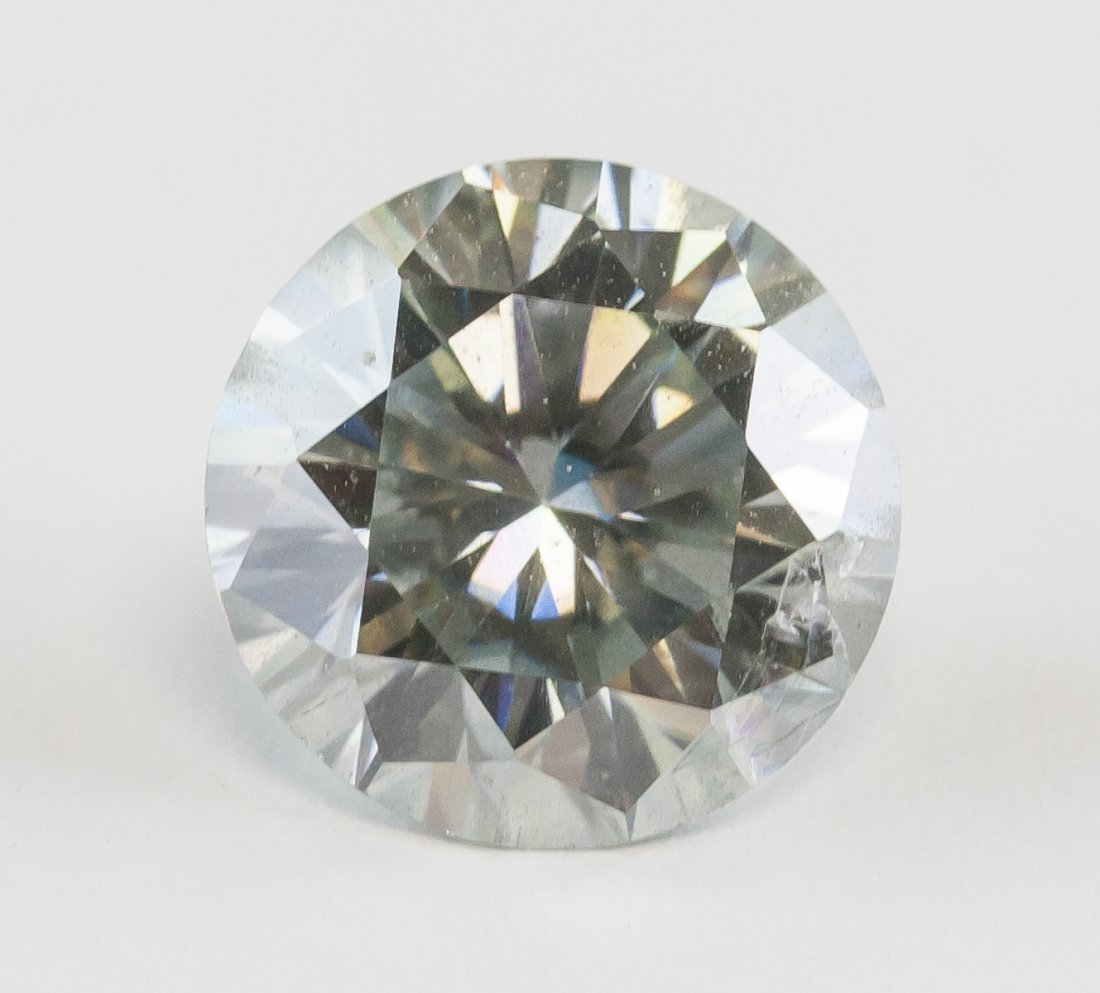 2.90 Ct VVS1 I-J  Round Cut Diamond Solitaire