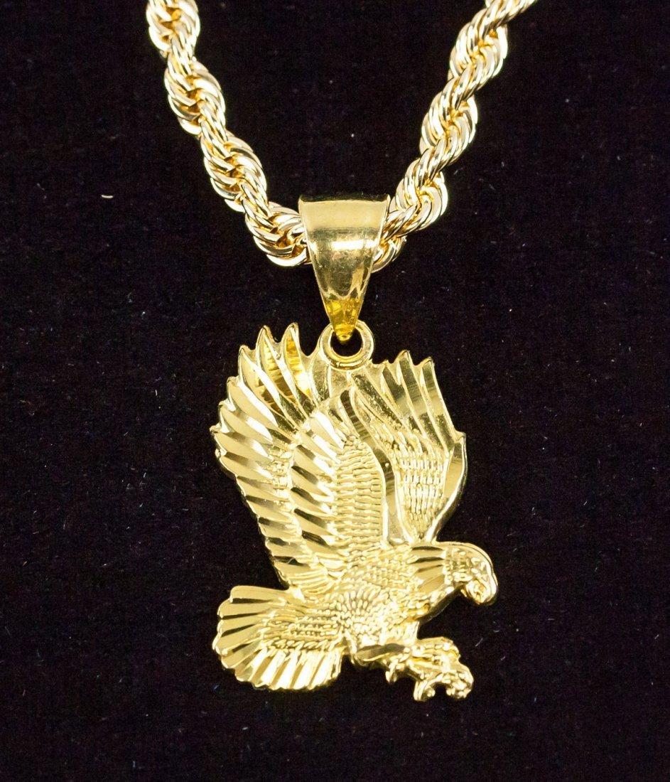 14 Kt Gold Eagle Pendant