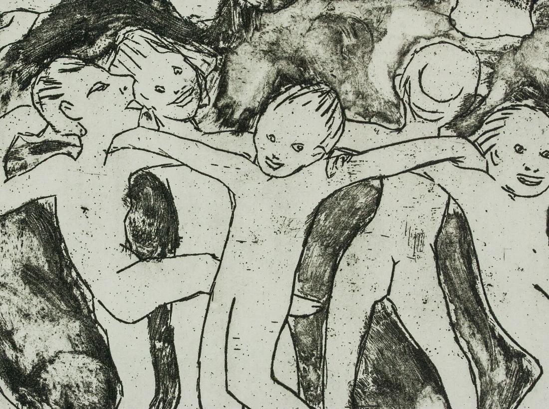 Emil Nolde WALDKINDER 1991 Etching on Paper