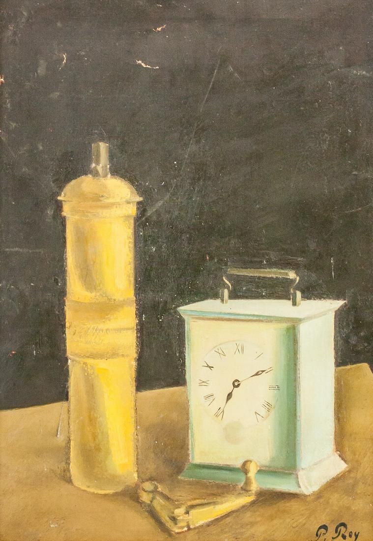 Pierre Roy French Modernist Oil on Canvas