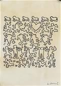 Keith Haring American Pop Ink on Paper Art Gallery