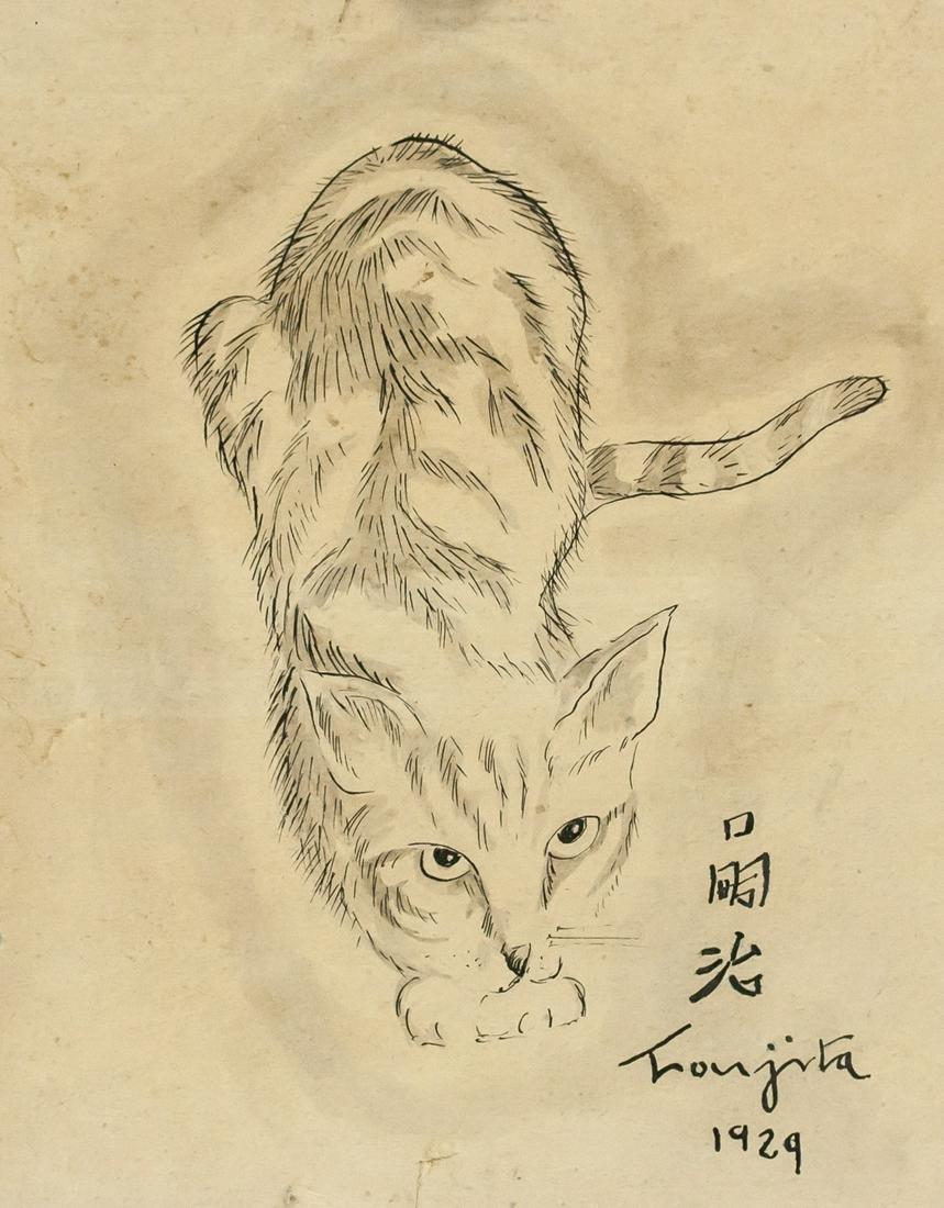 Leonard Foujita Japanese Watercolor on Paper 1929