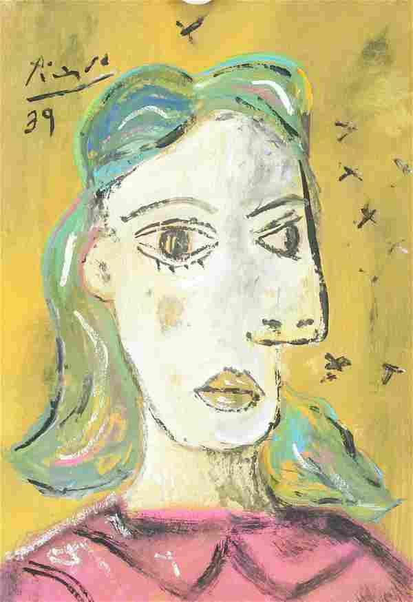 Pablo Picasso Spanish Gouache Galerie Beyeler '89