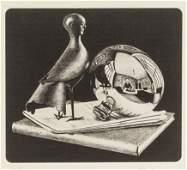 M. C. Escher Dutch Signed Linocut on Paper 32/150