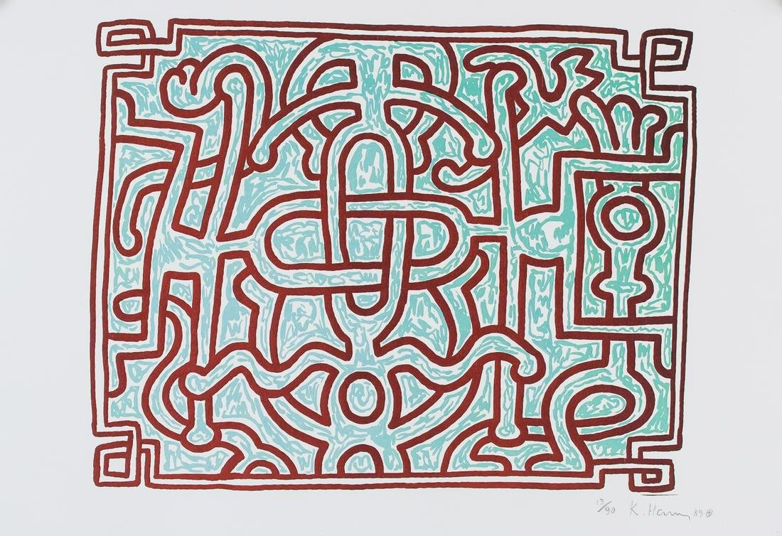 Keith Haring American Signed Lithograph 13/90 '89