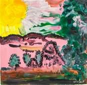 Arie Smit DutchIndonesian Oil on Canvas Landscape