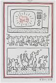 Keith Haring US Dancing Figures Ink on Paper '86
