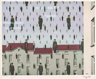 Rene Magritte Belgium Golconde Signed Litho