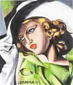Tamara de Lempicka Polish Oil on Paper