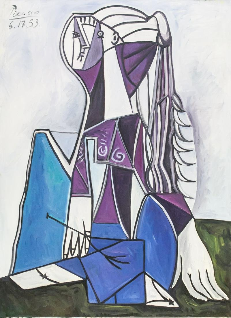Pablo Picasso Spanish Oil on Canvas 6.17.53