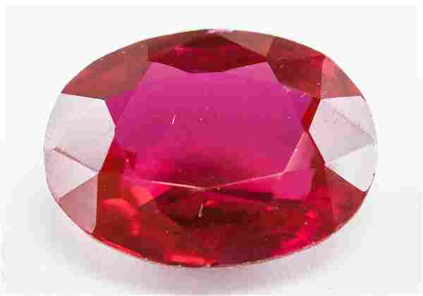 10.30ct Oval Cut Blood Red Natural Ruby GGL