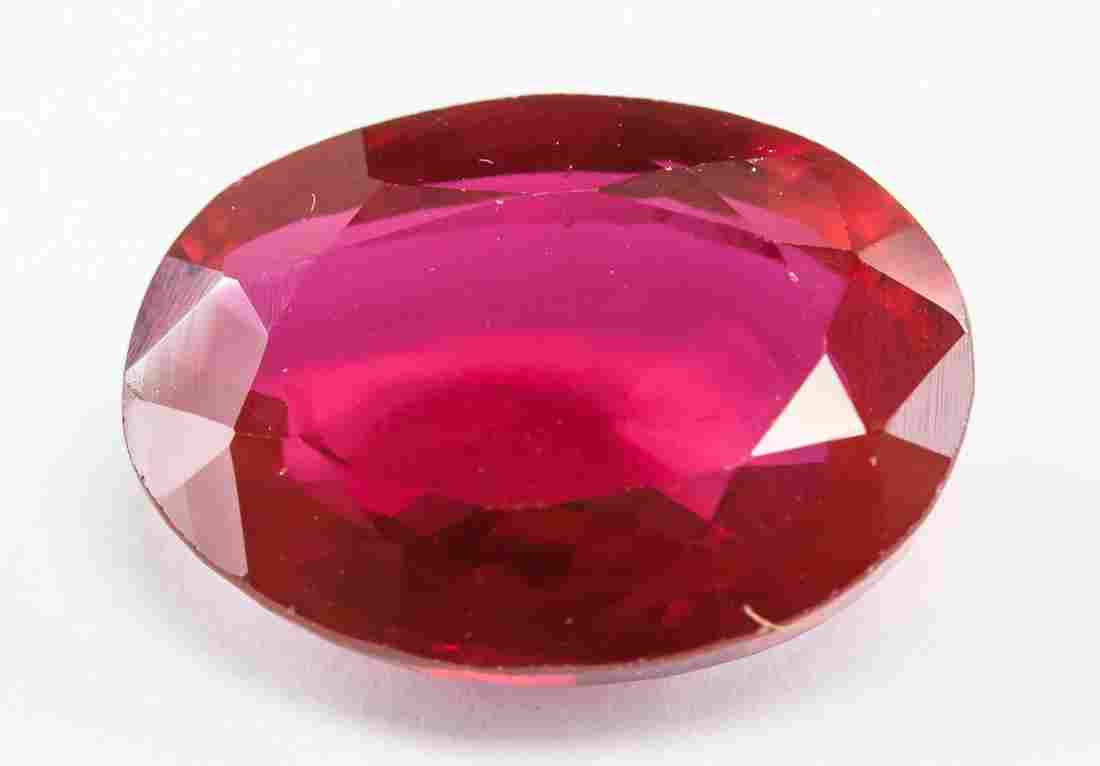 13.85ct Oval Cut Pink Natural Ruby GGL
