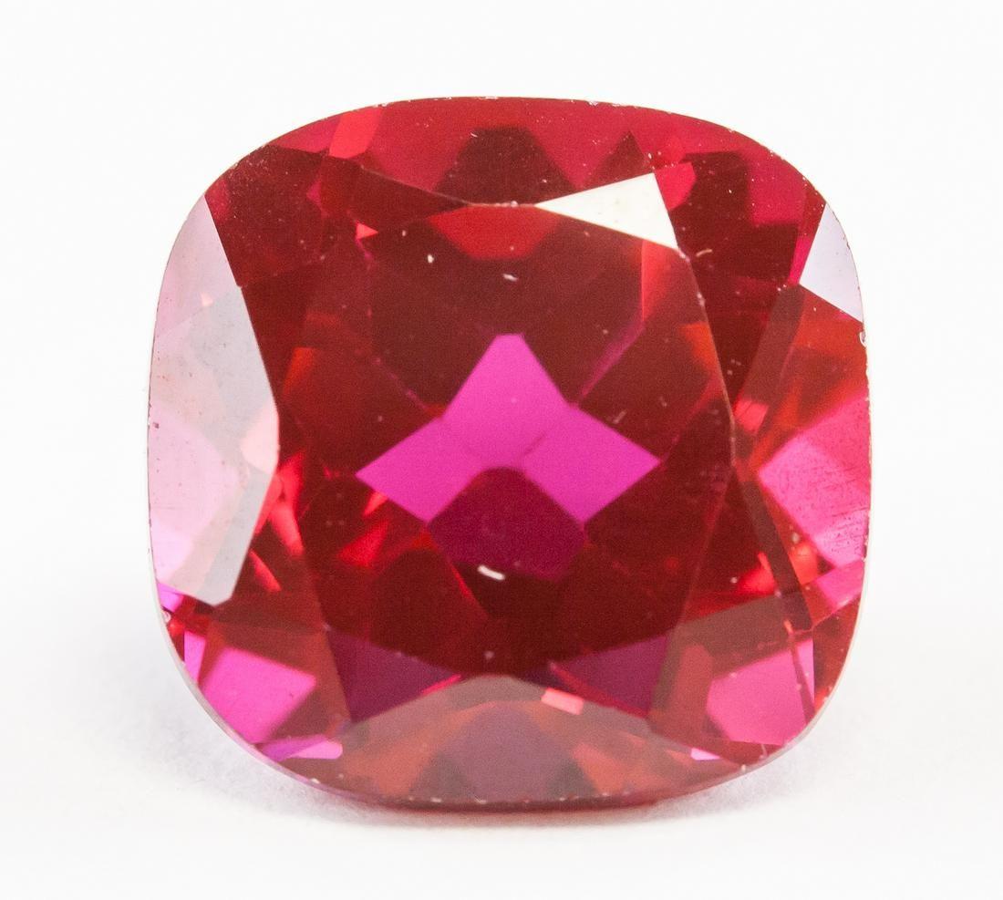 8ct Cushion Cut Blood Red Natural Ruby GGL