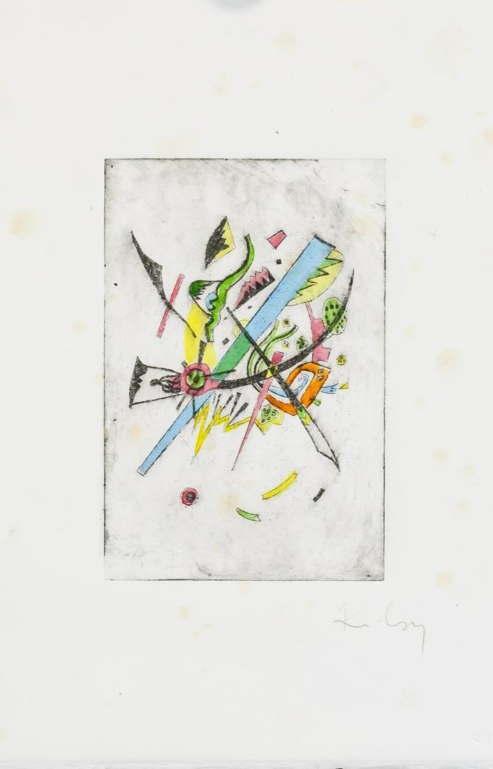 Wassily Kandinsky Russian Signed Linocut Etching