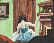 Edward Hopper American Signed Oil and Gouache