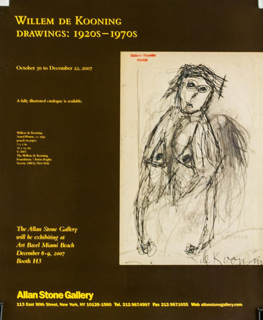 Willem de Kooning Signature on Single Leaf Page