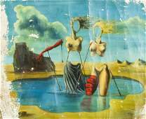 Salvador Dali Spanish Surrealist Oil on Canvas