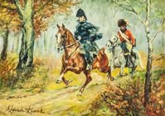 Wojciech Kossak 1856-1942 Polish Oil on Canvas