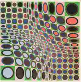 Victor Vasarely Hungarian-French Lithograph 17/90