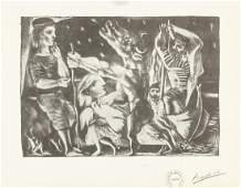 Pablo Picasso Spanish Signed Litho on Paper L6