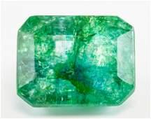 7.50ct Emerald Cut Green Natural Emerald GGL