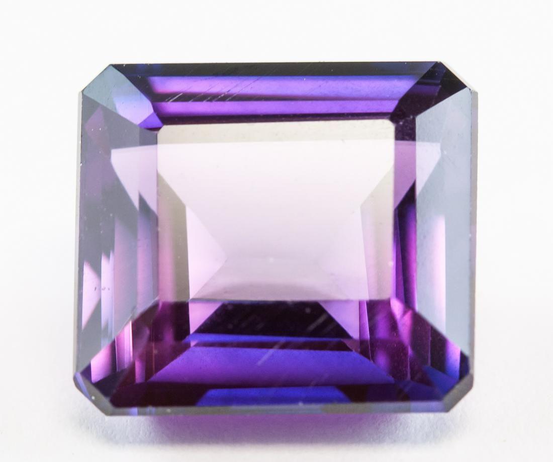 10.05ct Emerald Cut Purple Natural Musgravite GGL