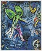 Marc Chagall French Surrealist Signed Litho