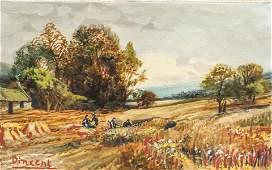 Dutch Oil on Canvas Landscape Signed Vincent